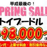 《4/1㊊~30㊋》トイプードル98,000円~★平成最後の「SPRING SALE」開催中!